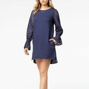 #112❤ BNWT Kensie blue sweatshirt dress- size M
